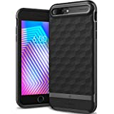 Caseology Parallax Series iPhone 8 Plus/7 Plus Cover Case with Design Slim Protective for Apple iPhone 8 Plus (2017)/iPhone 7 Plus (2016) - Matte Black