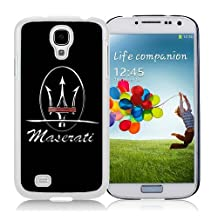 Lovely And Durable Custom Designed Case For Samsung Galaxy S4 I9500 i337 M919 i545 r970 l720 With Maserati logo 5 White Phone Case