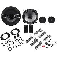 Kicker 41KSS674 6.75 4-Ohm 2-Way Component Speakers With Speaker Grilles - Peak 250 Watts/125 Watts RMS Per Speaker - Shallow Mounting Depth