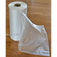"""Clear Plastic Bags On Roll, 10"""" W x 15"""" H (Width x Height), HDPE, 10 Micron, 500 Bags/Roll, 4 Rolls/Case, 2000 Bags/Case"""