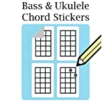 Bass, Ukulele Chord and Tablature Fingering Stickers (500 Pack) Free Shipping...