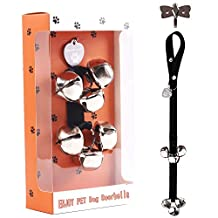 Dog Doorbells House Training Dog Doorbells for Housetraining Housebreaking, 6 Premium Extra Large Loud 1.4'' Doorbells with Adjustable Door Strap for Puppies Training