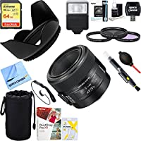 Sony SAL50M28 50mm f/2.8 Macro A-Mount Lens + 64GB Ultimate Kit + 64GB Ultimate Filter & Flash Photography Bundle