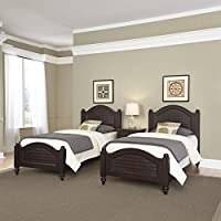 Home Styles 5542-4024 Bermuda Two Beds and Night Stand, Twin, Espresso