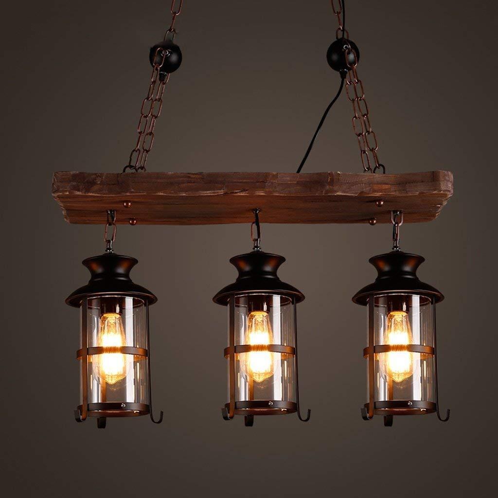 BCX Beleuchtung Beleuchtung Beleuchtung Kronleuchter - Retro Industrial Lights, Restaurant Bar - Holz Eisen, Kronleuchter e00c31