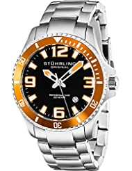 Stuhrling Original Mens 395.33I117 Aquadiver Regatta Champion Analog Swiss Quartz Silver Stainless Steel Link...