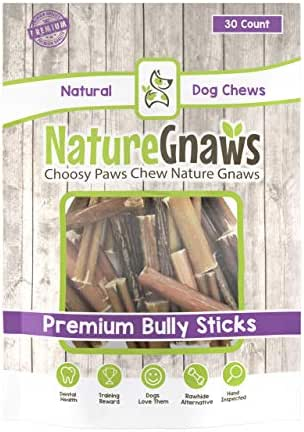 Nature Gnaws Small Bully Stick Bites 2-3 inch - 100% Natural Beef Dog Chews (2-3