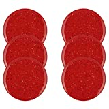 Zak Designs Confetti Salad Plates, Dinner Set, Red
