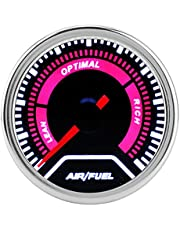 Acouto Air / Fuel Ratio AFR Gauge Air Fuel Ratio Gauge for Car 52mm/2in LED Air Fuel Ratio Gauge Meter for All 12V Cars with Narrowband Oxyen Sensor