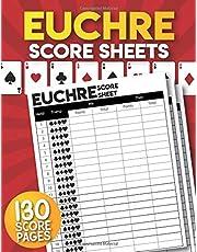 Euchre Score Sheets: 130 Large Euchre Score Cards.