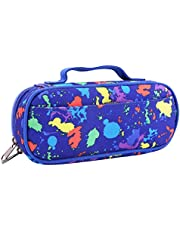 Pencil Case for Boys and Girls, Pen Bag,Pencil Cases for Office Gadgets Large Capacity with Holder Oxford Fabric with Artistic Splash Pattern