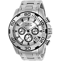 Invicta Men's 'Pro Diver' Quartz Stainless Steel Casual Watch, Color:Silver-Toned (Model: 22317-I)