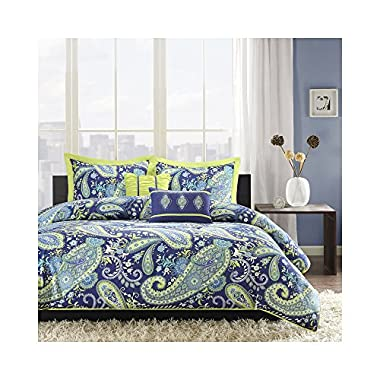 Intelligent Design Melissa 5 Piece Comforter Set, Full/Queen, Blue
