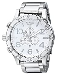 Nixon Men's NXA083488 Chronograph White Dial Watch
