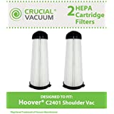 2 HEPA Filters for Hoover C2401 Commercial & Royal Backpack Vacuums; Compare to Hoover Part Nos. 2KE2110000 & 2-KE2110-000; Designed & Engineered by Think Crucial