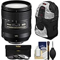Nikon 16-85mm f/3.5-5.6 G VR DX AF-S ED Zoom-Nikkor Lens with Sling Backpack + 3 Filters Kit for D3200, D3300, D5300, D5500, D7100, D7200 DSLR Cameras