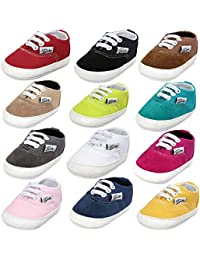 Baby Boys Girls Canvas Toddler Sneaker Anti-slip First Walkers Candy Shoes 0-24 Months 12 Colors