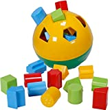CifToys Educational Shape Sorter Ball Kids Toys | Develop Fine Motor Skills, Have Fun, Learn About Shapes & Colors (Green-Yellow)