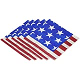 "Amscan Americana Luncheon Napkins Patriotic 4Th of July Party Disposable Tableware (100 Piece), Multicolor, 6.5"" x 6.5"""
