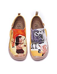 UIN Kid's Fashion Sneakers Lightweight Casual Comfortable Funny Painted Travel Shoes Boys Girls Loafers