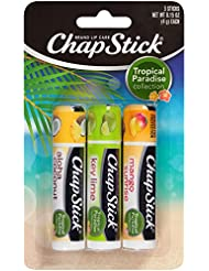 Chapstick Tropical Paradise Collection Lip Care, 0.15 Ounce, 3 ct