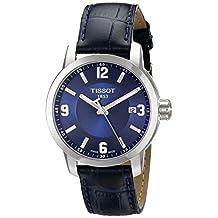Tissot Men's Prc 200 T055.410.16.047.00 Blue Leather Swiss Quartz Watch