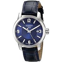 Tissot Men's PRC 200 Quartz Blue Dial Blue Leather Sport Watch T0554101604700