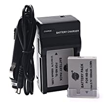 DSTE® 2x NB-5L Battery + DC22 Travel and Car Charger Adapter for Canon PowerShot S100 S110 SD880 SD890 SD900 SD950 SD970 SD990 SX220 IS SX230 HS Camera