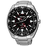 Seiko SUN049 Men's Prospex Stainless Steel Silver Bracelet Band Black Dial Watch
