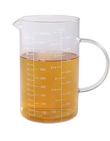 Glass Measuring Cup, [Insulated handle, V-Shaped Spout], 77L High