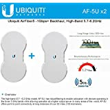 Ubiquiti AirFiber AF5U KIT 2 End Points AF-5U 5GHz 1.2+Gbps 100+km PTP Radio