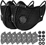 AstroAI Reusable Dust Face Mask with 7 Filters - Personal Protective Adjustable for Running, Cycling, Outdoor
