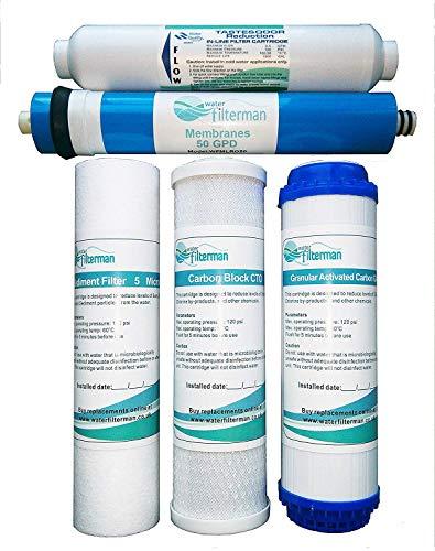 Filtro de Agua por Ósmosis Inversa de 5 Etapas, Conjunto de Repue