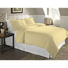 Mayfair Linen #1 Bestseller Now for Sale on Amazon - 100% Egyptian Cotton Duvet Cover Set- Color Yellow, Size King with Pillow Shams