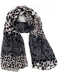 b7fd3423c81 2019 New Leopard Scarves for Women Soft Cozy Lightweight Chiffon Material  63x27
