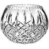 """Barski European Hand Cut Plaza Crystal Rose Bowl, 5"""" D, (5 inches D) (5"""" D, in the Plaza Collection)"""