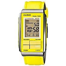 Casio #LA201WBL-9A Women's Futurist Leather Band Alarm Chronograph Digital Watch