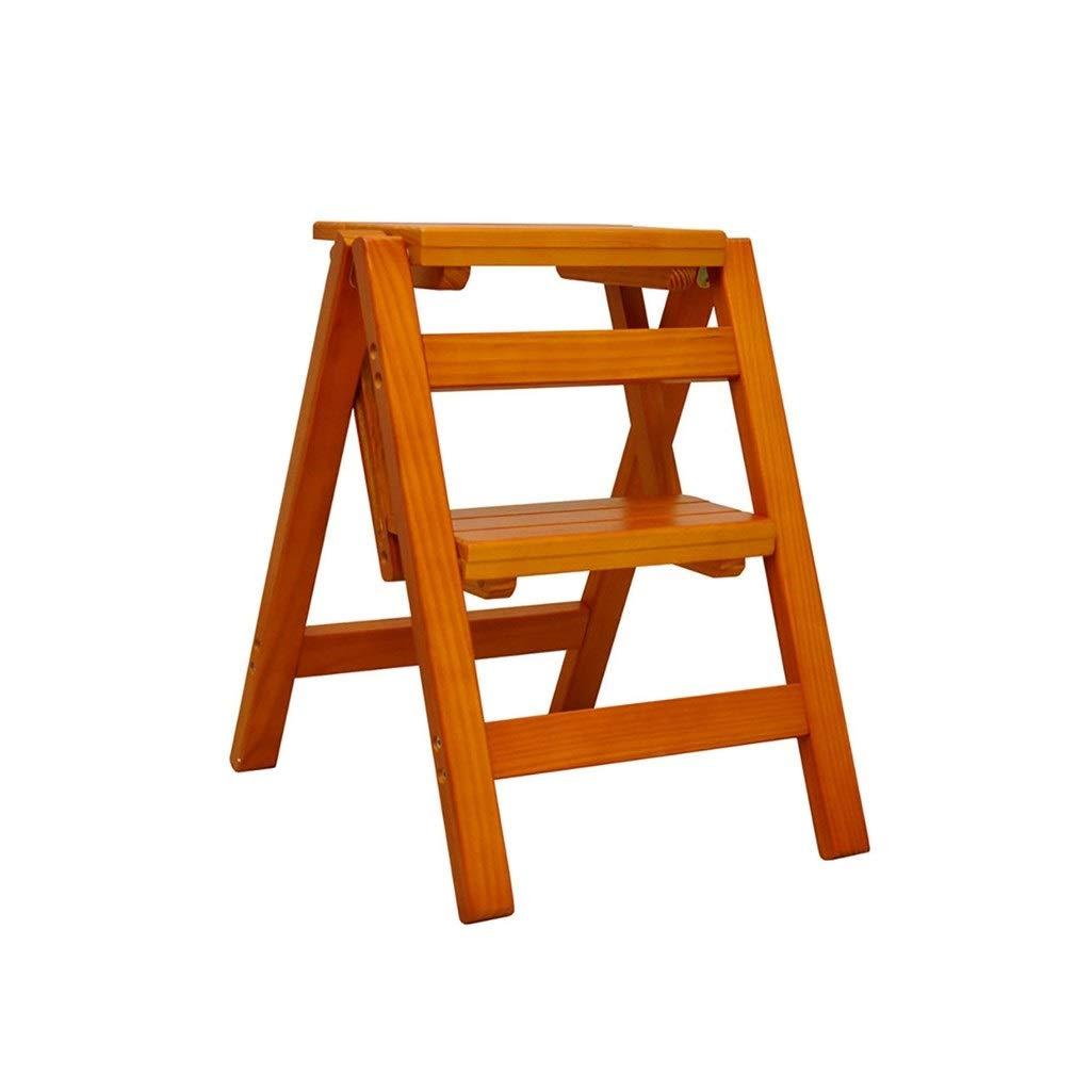 comprar descuentos A CAOYUTaburete pequeño pequeño pequeño Escaleras de Madera multifuncionales Que doblan la Escalera portátil de la Escala de Dos escalones de la Escalera de Madera (Color   A)  ofrecemos varias marcas famosas