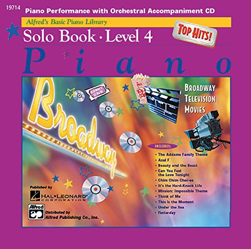 Download Alfreds Basic Piano Course Top Hits Solo Book Cd Level 4
