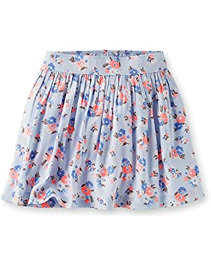 Girls Sateen Floral Print Skirt (6 Months)