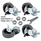 "WHARSTM Caster Wheels, 3"" Locking Swivel Casters"