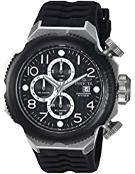 Invicta Mens I-Force Quartz Stainless Steel and Silicone Casual Watch, Color:Black (Model: 17169)