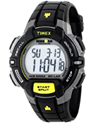 Timex Mens T5K790 Ironman Rugged 30 Full-Size Black/Lime Resin Strap Watch