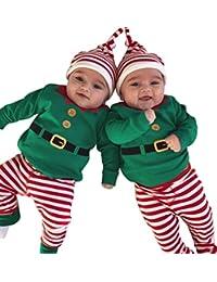 EGELEXY Baby Unisex Holiday Elf Photo Props Costume Romper Onesie