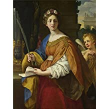 'Pietro Da Cortona Saint Cecilia ' Oil Painting, 12 X 16 Inch / 30 X 40 Cm ,printed On Polyster Canvas ,this High Quality Art Decorative Canvas Prints Is Perfectly Suitalbe For Dining Room Decor And Home Decoration And Gifts