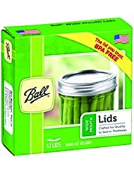 Ball Jars Wide Mouth Lids, 72 Count (Pack of 6)