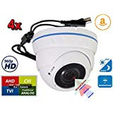 4X 960P 4in1 HD Day Night Vision CCTV Security Camera Power Supply w/DC Jack