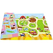 Baby Care Double sided soft Playmat / Kids Toddler Children Play Mat /Protecting playmats - Busy Farm - Medium