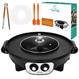 Food Party 2 in 1 Electric Smokeless Grill and Hot