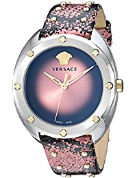 Women s  SHADOV  Quartz Stainless Steel and Snake Skin Watch, Color Pink (.  Versace cd3c7ba3d33